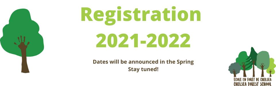 Registration 2021-2022!
